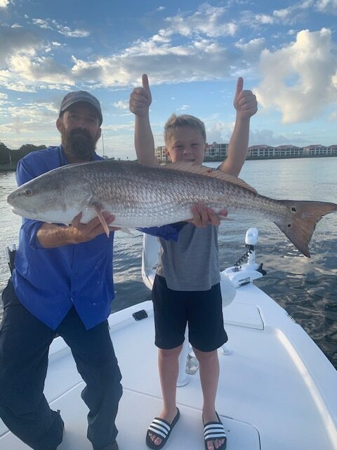 Redfish Caught on a Family Friendly Fishing Charter